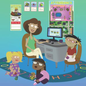 Curriculum materials in a classroom