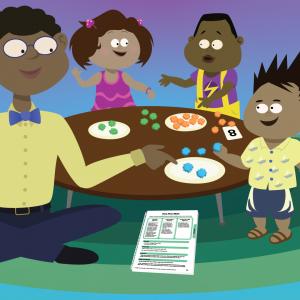 Curriculum activity with pre-K children
