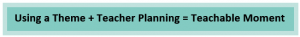 Using a theme + Teacher planning = Teachable Moment