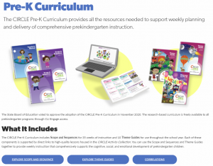 The CIRCLE Pre-K Curriculum page