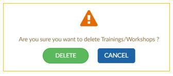 Confirmation to delete